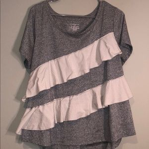 Lane Bryant ruffled t-shirt